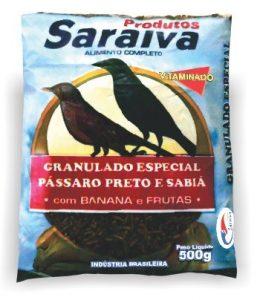 Pássaro Preto e Sabiá Granulada Especial com Banana