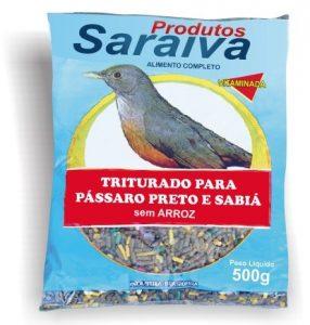 Pássaro Preto e Sabiá Triturada sem Arroz com Frutas